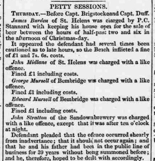 Isle of Wight Observer - Saturday 06 January 1855